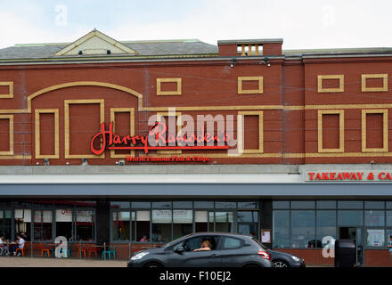 Harry Ramsden's fish and chips restaurant on the promenade in Blackpool, Lancashire - Stock Photo