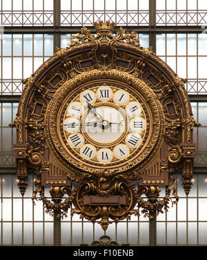 Clock Musée d'Orsay Main Hall Victor Laloux - Stock Photo
