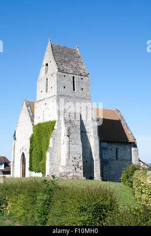 beautiful small church in Normandy France - Stock Photo