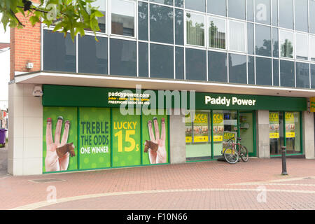 Paddy Power bookmakers in the town centre in Bedford, Bedfordshire, England - Stock Photo