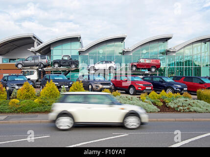 Shukers Land Rover dealership, Shrewsbury, Shropshire, England UK - Stock Photo