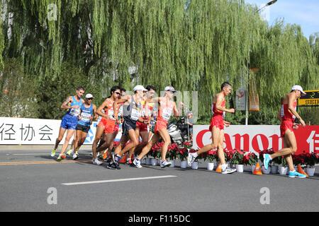 Beijing, China. 23rd Aug, 2015. (R-L) Chen Ding, Wang Zhen (CHN), Yusuke Suzuki (JPN), Miguel Angel Lopez (ESP), - Stock Photo
