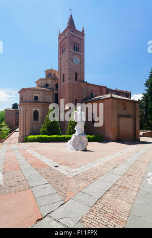 Abbey of Monte Oliveto Maggiore, Tuscany, Province of Siena, Italy - Stock Photo