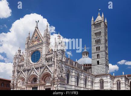 Cathedral of Santa Maria Assunta, UNESCO World Heritage Site, Siena, Tuscany, Italy - Stock Photo