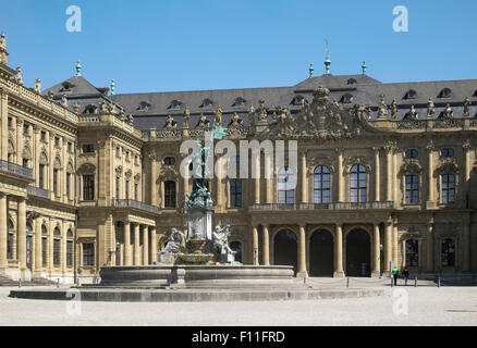 The Residenz, Würzburg, Lower Franconia, Bavaria, Germany - Stock Photo