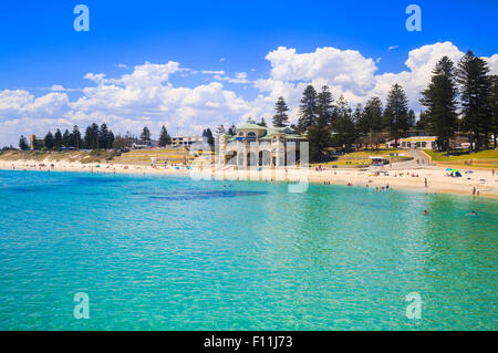 Cottesloe Beach on a beautiful and calm summer's day afternoon. - Stock Photo