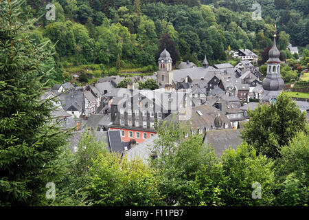 Slate-roofs of Monschau, Eifel region, North Rhine-Westphalia, Germany. - Stock Photo