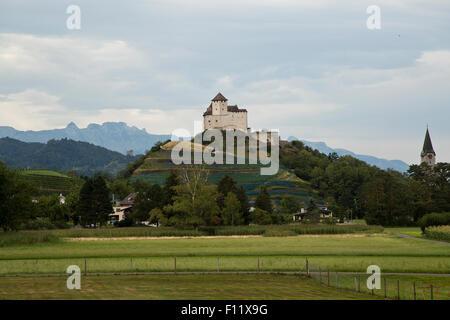 Burg Gutenberg castle in Liechtenstein - Stock Photo