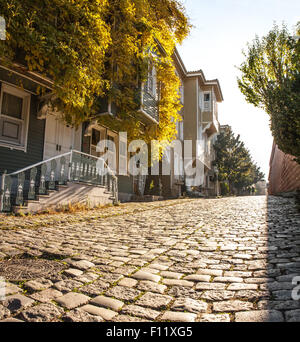 Street of the Cold Fountain or Sogukcesme Sokagi is a small street with historic houses in the Sultanahmet - Stock Photo