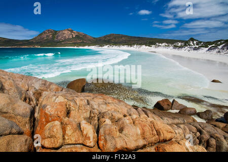 Turquoise waters in Thistle Cove. - Stock Photo