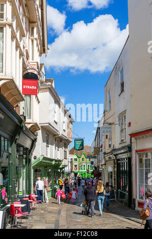 Shops on Sun Street in the historic city centre, Canterbury, Kent, England, UK - Stock Photo