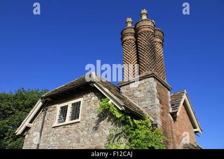 Dial Cottage, Blaise Hamlet, Bristol, National Trust, England, United Kingdom. Architect, John Nash. - Stock Photo