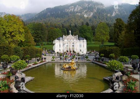 Linderhof Palace - Bavaria - Germany - Stock Photo