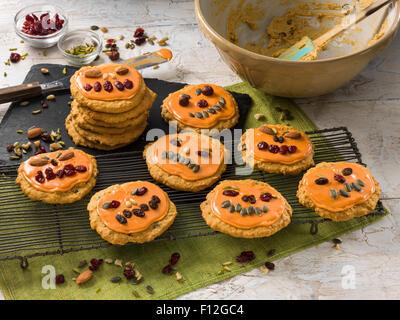 Pumpkin cookies - Stock Photo