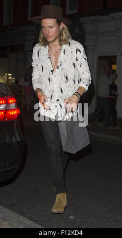 Dougie Poynter seen in London at the Chiltern Fire House  Featuring: Dougie Poynter Where: London, United Kingdom - Stock Photo