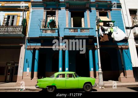 Colonial Building - Havana - Cuba - Stock Photo