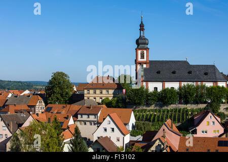 Church of St Laurentius, Retzbach, Main valley, Franconia, Bavaria, Germany - Stock Photo