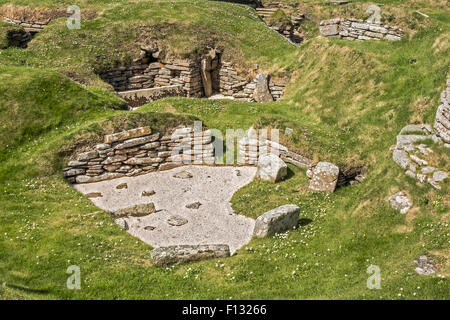 Neolithic Village Of Skara Brae Orkney Islands UK - Stock Photo
