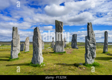 Callanish (gaelic Calanais)  Stones at Callanish village on Isle of Lewis in the Outer Hebrides in Scotland - Stock Photo