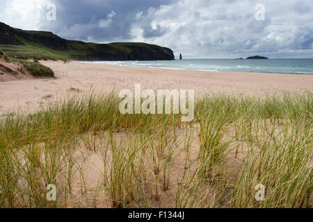 Sandwood Bay in Sutherland , Highland Region, Scotland United Kingdom - Stock Photo