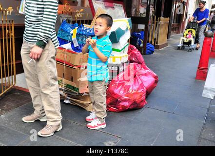 London, England, UK. Gerrard Street, Chinatown - Stock Photo