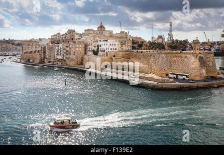 The Grand Harbour in Valletta, Malta, Europe - Stock Photo