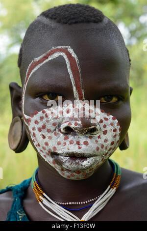 Surma Children Ethiopia Stock Photo, Royalty Free Image