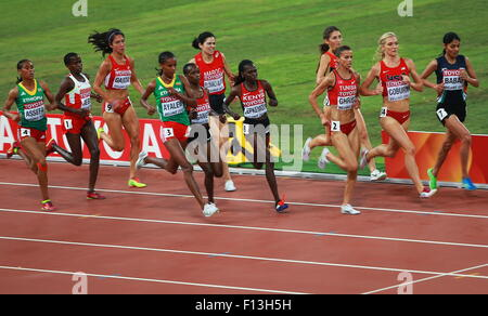 Beijing, China. 26th Aug, 2015. Athletes compete in the women's 3000m steeplechase final on Day 5 of the 15th IAAF - Stock Photo