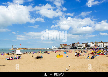 The beach in Margate, Kent, England, UK - Stock Photo