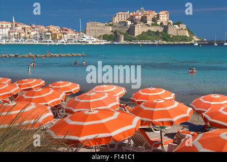 Calvi beach - Stock Photo