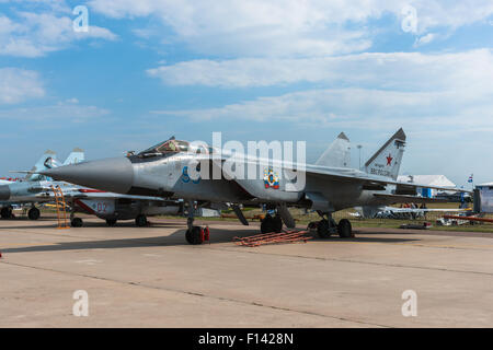Moscow, Russia. 26th August, 2015. The Twelfth International Moscow Aerospace Show MAKS 2015 was opened in Zhukovsky - Stock Photo