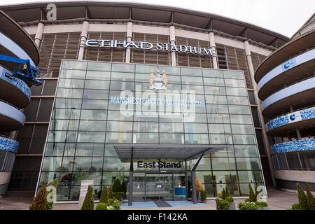 east stand Manchester City etihad stadium eastlands city of manchester stadiium uk - Stock Photo