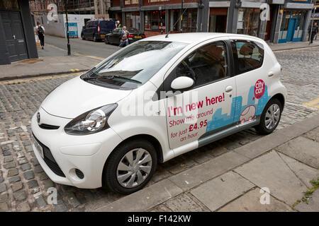 City Car Club Sharing Scheme Cars Parked In The New Town Edinburgh