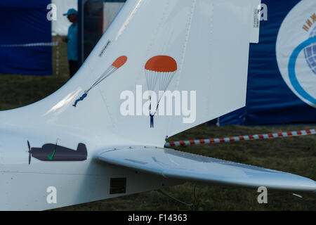 Moscow, Russia. 26th August, 2015. The Twelfth International Moscow Aerospace Show MAKS 2015 was opened in the Moscow - Stock Photo