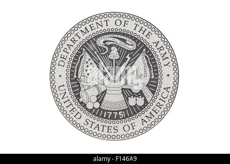 U.S. Army official seal on a white background. - Stock Photo