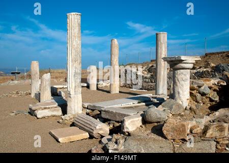 Griechenland, Kykladen, Naxos, Dionysos-Heiligtum von Yria - Stock Photo