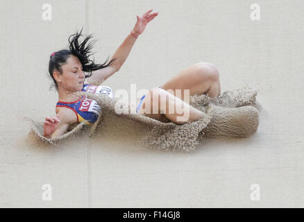 Beijing, China. 27th Aug, 2015. Florentina Marincu of Romania competes in the Women's Long Jump Qualification of - Stock Photo