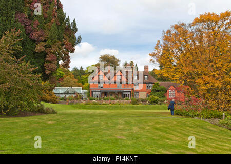 View from Hergest Croft Gardens on Hergest Croft House, near Kington in Herefordshire, England, Great Britain, United - Stock Photo