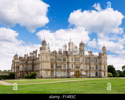 Burghley House, a 16thC Elizabethan stately home near Stamford, Lincolnshire, England, UK - Stock Photo