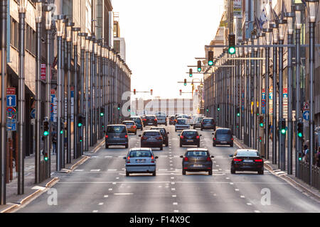 View of the Rue de la Roi street in the city of Brussels. August 21, 2015 in Brussels, Belgium - Stock Photo