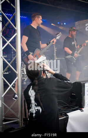 rock music photographer photographers stage live performance photograph photographing musicians - Stock Photo