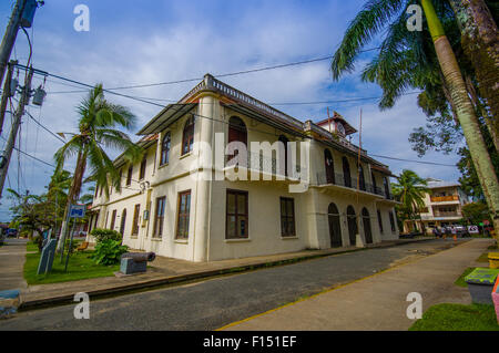 PANAMA, PANAMA - APRIL 16, 2015:  Street view of Isla Colon which is the most populated island in the Bocas del - Stock Photo