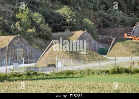 Italy, Camp Ederle US Army base in Vicenza, ammunition warehouse ASP 7 (Ammunition Supply Point 7) in Tormeno - Stock Photo
