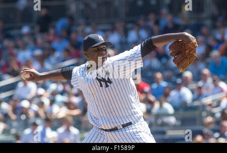 New York, New York, USA. 26th Aug, 2015. Yankees' MICHAEL PINEDA in the 2nd inning, New York Yankees vs. Houston - Stock Photo