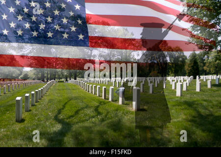 Great For 4th Of July Or Memorial Day Grave Stones In A Row With