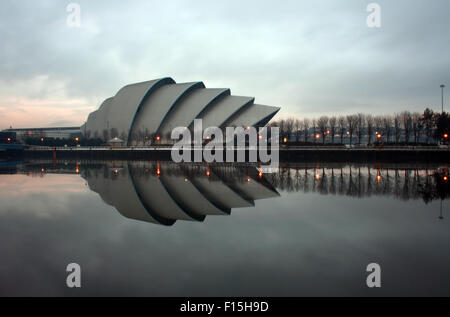 Glasgow Clyde Auditorium, also known as the Armadillo by the River Clyde before Sunset - Stock Photo