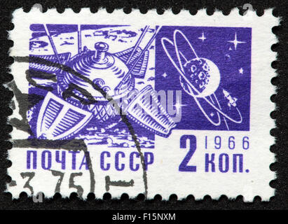 2 Kon Kopek Mockba 1966 CCCP  USSR space stamp - Stock Photo