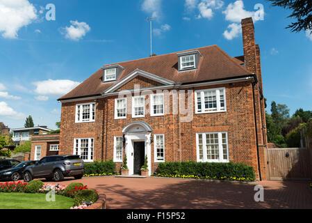 Large house in Winnington Road, Hampstead, London, England, UK - Stock Photo