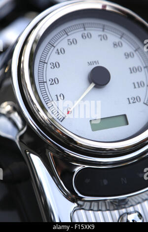 Close up motorcycle speedometer board - Stock Photo