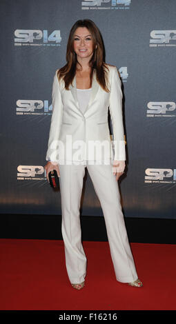 Suzi Perry attends the BBC Sports Personality of the Year awards at The Hydro on December 14, 2014 in Glasgow, Scotland - Stock Photo